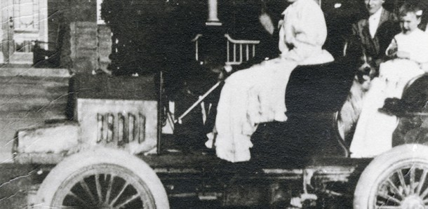 This undated photo shows a Doherty automobile. Built in Sarnia by a remarkable inventor and city mayor named Thomas Doherty, it was one of the first gasoline-powered cars in Canada. Lambton Heritage Museum, Grand Bend. Doherty Manufacturing Company collection, JA-6C 60 File 13.