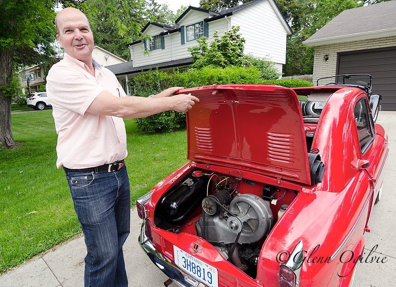 The Vespa sports a two-cylinder, 18-horsepower engine located in the trunk. Glenn Ogilvie