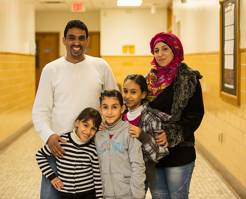 The Al-Khaleel family, from left, Mohammed, Rahaf, 6, Raghad, 8, Rooa, 10, and Diana. Troy Shantz, Special to The Journal