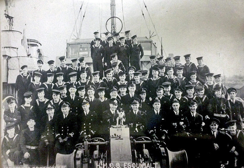 Sixteen members of the crew of the Esquimalt died after their ship was torpedoed and sunk off the coast of Nova Scotia.  Photo courtesy, RCNA Sarnia Branch