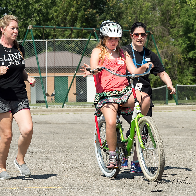 A group of 25 children from Pathways Health Centre for Children took part in a five day iCan Bike program held at the Clearwater Arena.