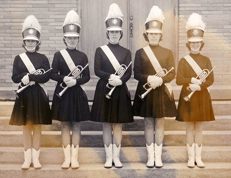 Marching Angels, from left, Linda Miller, Elsie Strozuk, Diane Austin, Michelle Bindner and Lori Craig. Submitted Photo