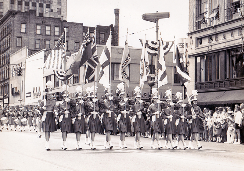 Sarnia's Lionettes marching band on parade in Saginaw, Michigan. Submitted Photo